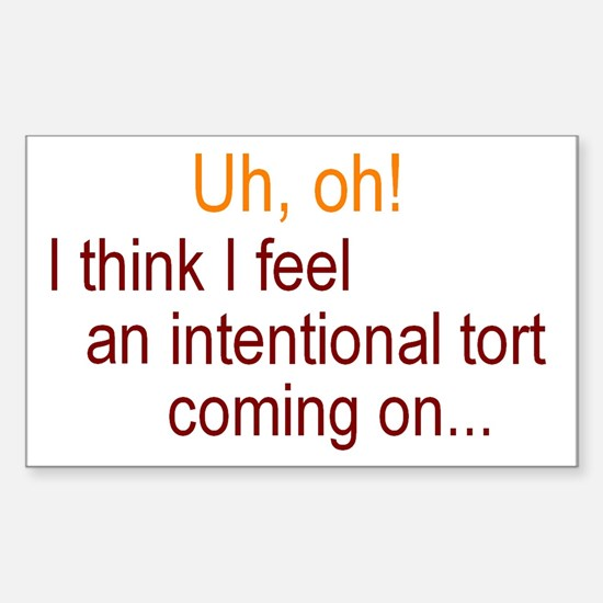 Intentional Tort Decal