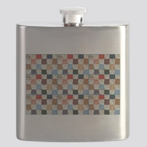 Colorful quilt pattern Flask