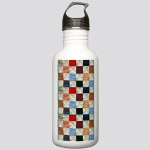 Colorful quilt pattern Water Bottle