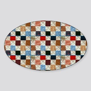 Colorful quilt pattern Sticker
