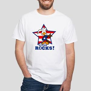 Voting Rocks White T-Shirt