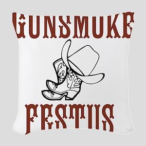 Gunsmoke Festus Woven Throw Pillow