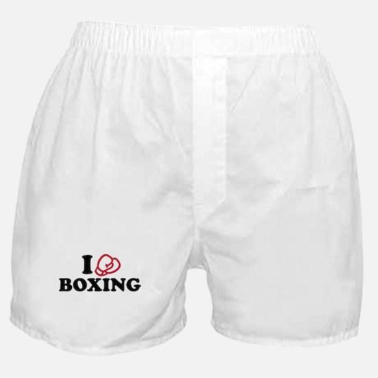 I love boxing gloves Boxer Shorts