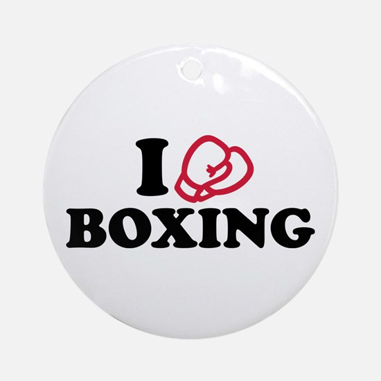 I love boxing gloves Ornament (Round)