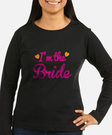 Im the Bride! with cute love hearts Long Sleeve T-