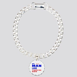 Real Man Love Toy Manche Charm Bracelet, One Charm