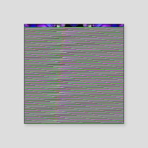 "Elegant Purple Star Square Sticker 3"" x 3"""