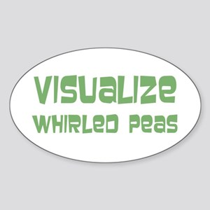 Whirled Peas Sticker (Oval)