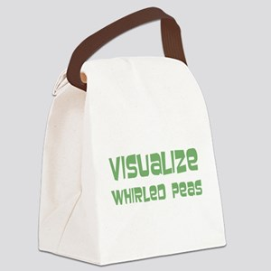 Whirled Peas Canvas Lunch Bag