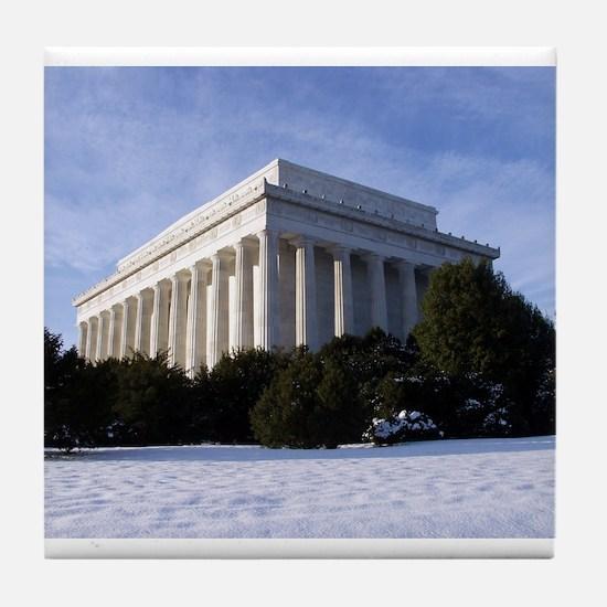 Lincoln Memorial 2.jpg Tile Coaster