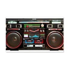 Wheely Master Blaster Boombox Wall Decal