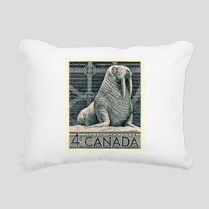 Vintage 1954 Canada Walrus Postage Stamp Rectangul