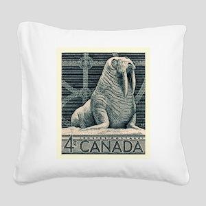 Vintage 1954 Canada Walrus Postage Stamp Square Ca