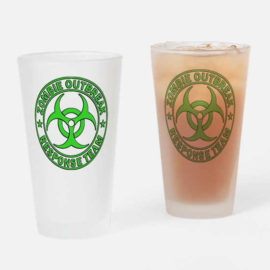 Zombie Outbreak Response Team green Drinking Glass