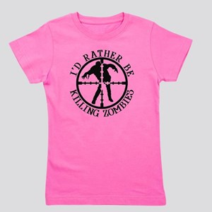I'd Rather Be Killing Zombies Girl's Tee