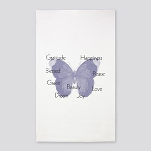 Inspirational Butterfly 3'x5' Area Rug