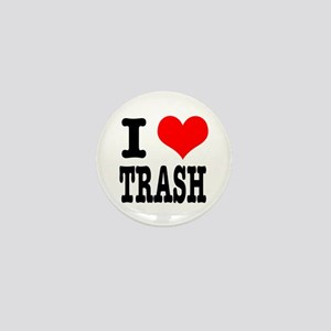 I Heart (Love) Trash Mini Button