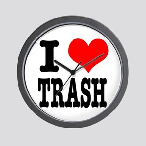 I Heart (Love) Trash Wall Clock