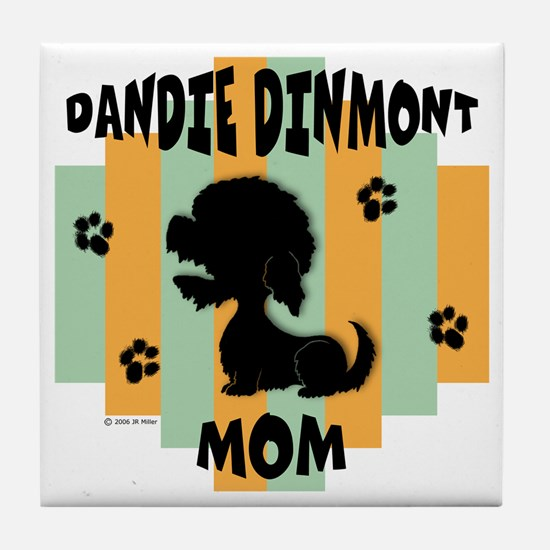 Dandie Dinmont Mom Tile Coaster