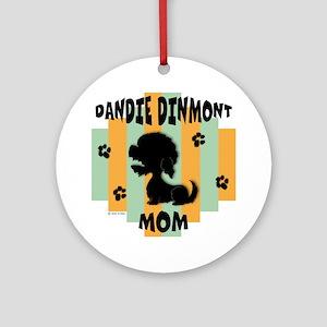 Dandie Dinmont Mom Ornament (Round)