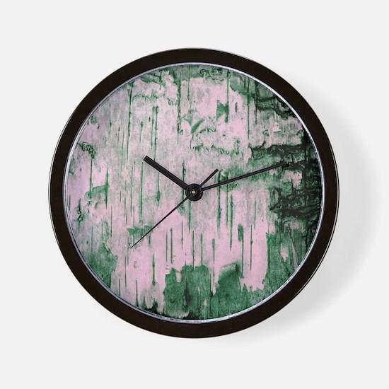 Green Birch Tree Bark Photo Texture Wall Clock
