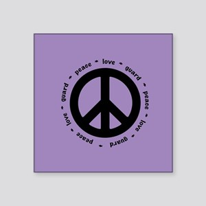 peace * love * guard Sticker
