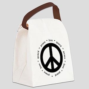 peace * love * guard Canvas Lunch Bag