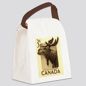 Vintage 1953 Canada Moose Postage Stamp Canvas Lun