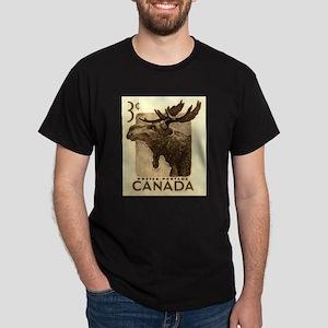 Vintage 1953 Canada Moose Postage Stamp T-Shirt
