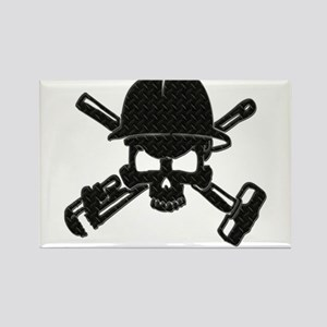 black diamond plate oilfield skull Magnets