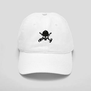 black diamond plate oilfield skull Baseball Cap