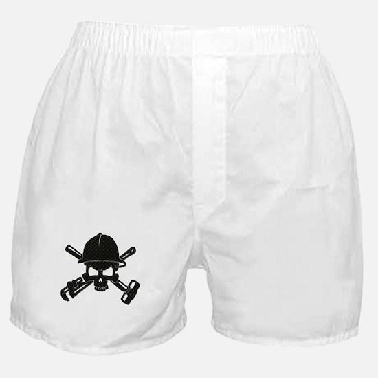 black diamond plate oilfield skull Boxer Shorts