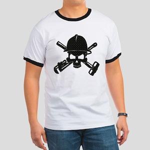 black diamond plate oilfield skull T-Shirt