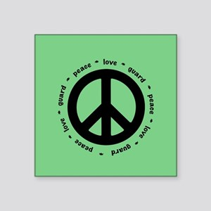 peace * love * guard (MINT) Sticker