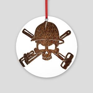 Rusty Oilfield Skull Ornament (Round)