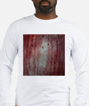Red Abstract Birch Tree Wooden Texture Long Sleeve