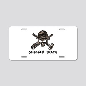Riveted Metal Oilfield Trash Skull Aluminum Licens
