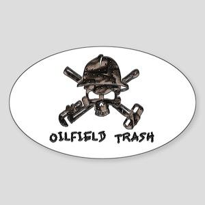 Riveted Metal Oilfield Trash Skull Sticker