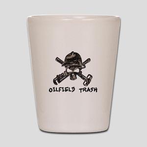 Riveted Metal Oilfield Trash Skull Shot Glass