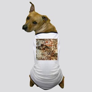 Rustic Old Birch Tree Wooden Texture Dog T-Shirt