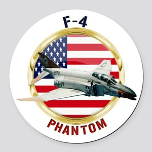 F-4 Phantom Round Car Magnet