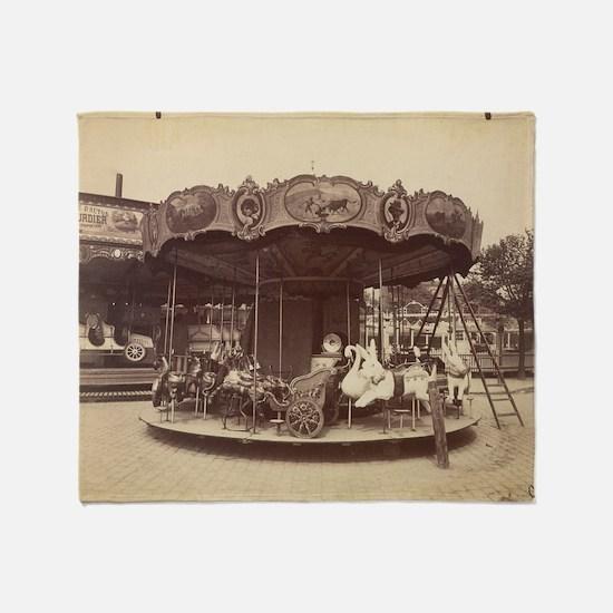 Vintage Carousel Throw Blanket