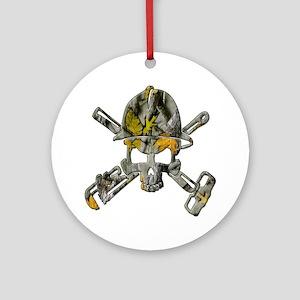 Camofaluge (Camo) Oilfield Skull Ornament (Round)