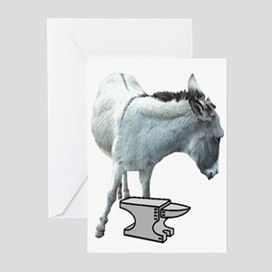 Ass-over-anvil card Greeting Cards (Pk of 10)