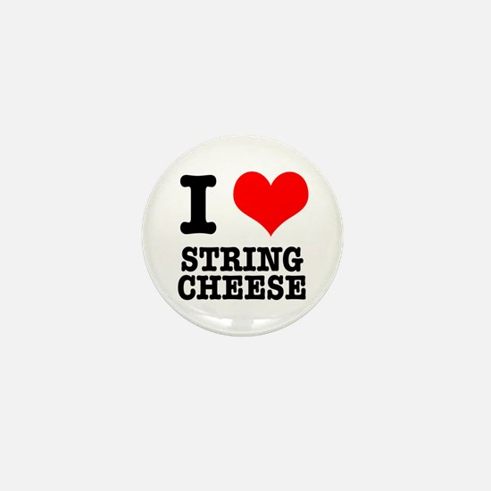 I Heart (Love) String Cheese Mini Button