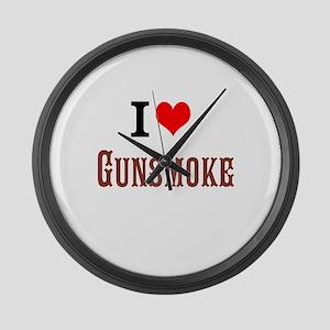 I Love Gunsmoke Large Wall Clock