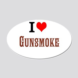 I Love Gunsmoke Wall Decal