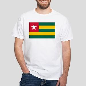 Togo Flag White T-Shirt