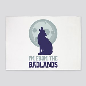 IM FROM THE BADLANDS 5'x7'Area Rug