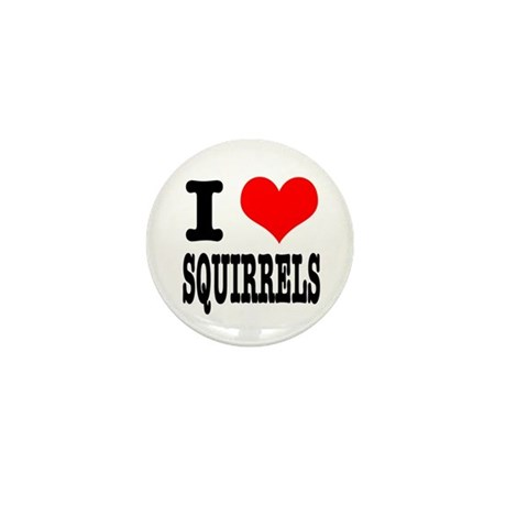 I Heart (Love) Squirrels Mini Button